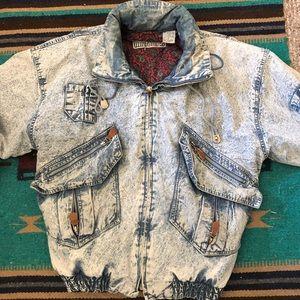 ⚡️VINTAGE RARE FIND⚡️80's/90's AcidWash Jacket (M)